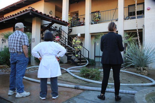 A fire broke out at the office building located at 74-075 El Paseo in Palm Desert, Calif., on Tuesday morning, December 24, 2019.