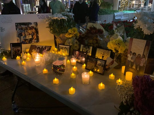 A candlelight vigil was held in downtown Phoenix, where a woman died Sunday after crashing into a light-rail train on Dec. 23, 2019.