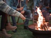 Wood firepit.