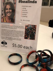 #bealinda bracelets were on sale Saturday night at Cedar Crest in honor of former teacher Linda Bare. All proceeds were donated to Special Olympics, a cause near and dear to Bare's heart.