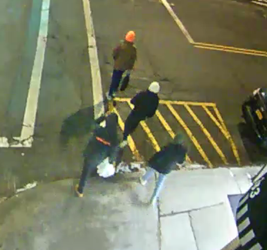 City of Beacon police area searching for four individuals involved in putting graffiti on Main Street businesses on Dec. 23, 2019.