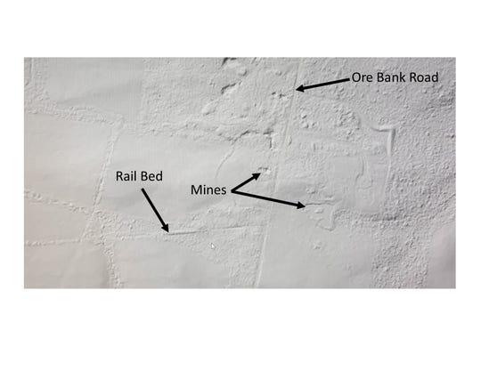 A LIDAR image of the Dillsburg area.