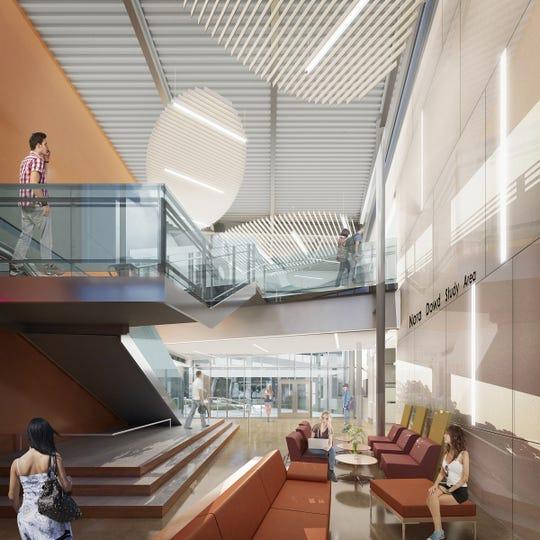 Esta ilustración de un artista muestra el interior del planeado Salinas Valley Memorial Healthcare System Center, que abrirá sus puertas para inscribir a la generación de la primavera del 2021.
