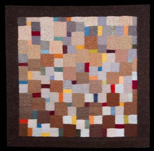 """Michael Rohde's tapestry """"Shindig"""" is part of an exhibit """"Beyond Function"""" at the Santa Paula Museum of Art."""