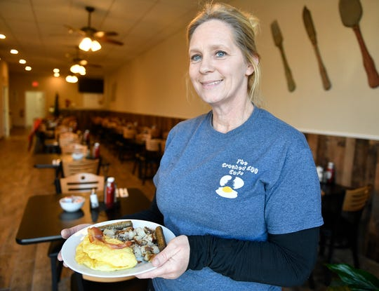 Melanie Ruggles, owner of The Cracked Egg Cafe on South Delsea Drive in Vineland, offers up fresh, cooked to order, breakfast and lunch, including daily specialty items.