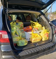 Students and staff at Vineland's Applied Math and Science Academy at Johnstone collected more than 220 nonperishable items to donate to the Vineland Ministerium Food Bank for the December commitment to kindness project.