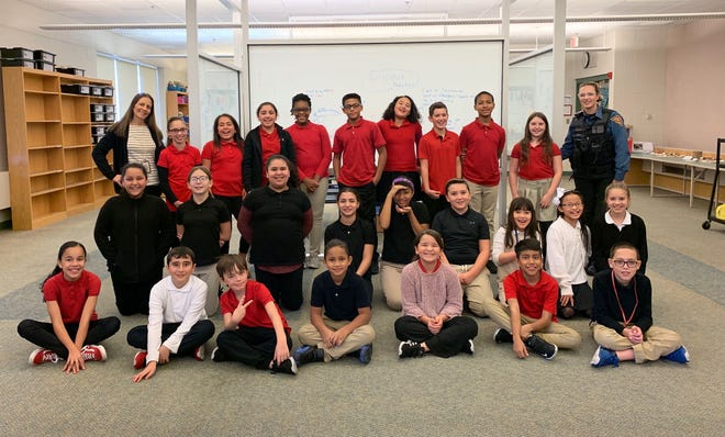 Fifth-grade students at the Applied Math & Science Academy at Johnstone were certified in digital wellness and safety on Nov. 21.