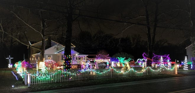 Gary and Debi Mazzone's house at 1150 Elm Road captured first place in the City of Vineland's 2019 David Di Giovacchino Holiday Lighting Contest.