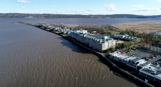 Drone photo of housing developments on the Piermont Pier Nov. 8, 2019.