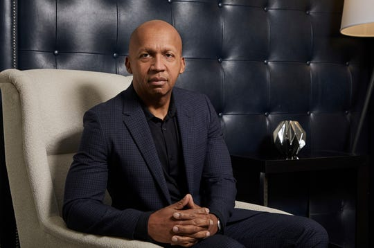 "This Dec. 16, 2019 photo shows civil rights attorney Bryan Stevenson posing for a portrait in New York to promote the film ""Just Mercy.""  (Photo by Matt Licari/Invision/AP)"