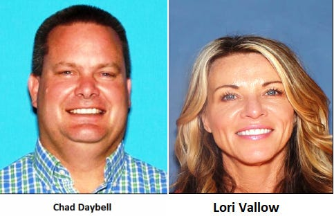 The Rexburg Police Department released these photos of Chad Daybell and Lori Vallow, who are wanted for questioning. Vallow's children have been missing since September, police said, and Daybell's previous wife was found dead in October.