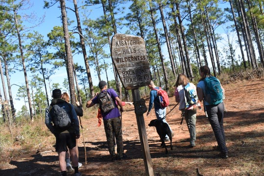 Franny Young, a member with Cenla Hikers & Paddlers Facebook group, planned a hike on the Backbone Trail located in the Kisatchie National Forest near Natchitoches on Tuesday, Dec 24, 2019. The trail is about 7.6 miles long one way with rugged terrain. The trail is popular with hikers who like the challenge the trail offers.