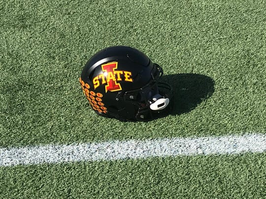 Iowa State will wear black helmets during Saturday's game against Notre Dame