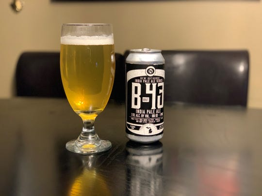 The B-43 brut IPA from Old Nation Brewing Co., featuring 3 grams of carbohydrates and no residual sugar.