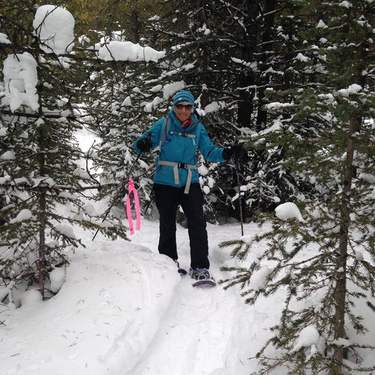 Gerry Jennings, a board member for Get Fit Great Falls, leads a group of novice cross-country skiers during Winter Trails Day, which is Feb. 2 this year.