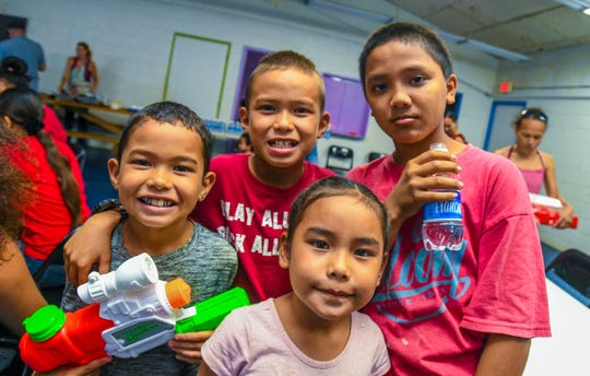 A holiday meal and gift giveaway event was hosted for disadvantaged families at the Jeromy Paul Newby Community Youth Center in Talofofo on Tuesday, Dec. 24, 2019. Over 90 gifts that were slated to be distributed during the event, was funded through fundraising efforts of the Blue Lagoon Mermaids and These Tiny Toes program, according to Mermaids founder, Vanessa Mack.