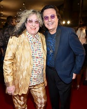Songwriters Hall of Fame Inductee Allee Willis and Rudy Perez attend the Songwriters Hall of Fame 49th Annual Induction and Awards Dinner at the New York Marriott Marquis Hotel on June 14, 2018 in New York City. Willis died Tuesday.