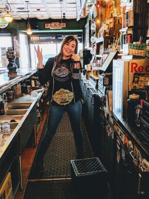 Jamie L. Hanson — pictured here at the Milwaukee Brat House, where she tended bar — was killed by a hit-and-run driver Dec. 24, 2019 in the Bay View neighborhood.