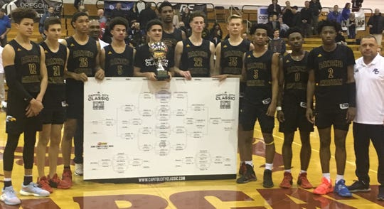 Rancho Christian wins the Capitol City Classic at Willamette University on Dec. 23, 2019.