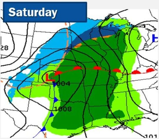 Heavy precipitation is headed for Sioux Falls this weekend, but whether it's snow, rain or a bit of both remains to be seen.