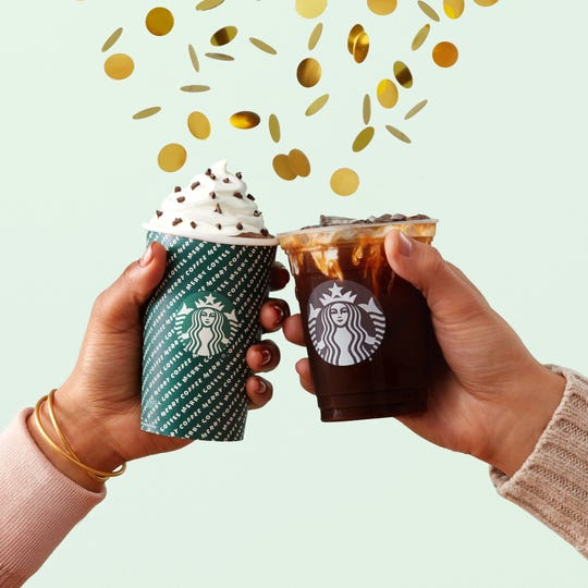 Starbucks is ending the year by throwing parties.