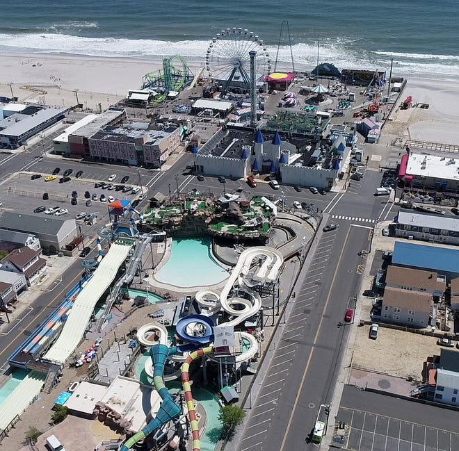 A view of Seaside Heights' Casino Pier and Breakwater Beach.