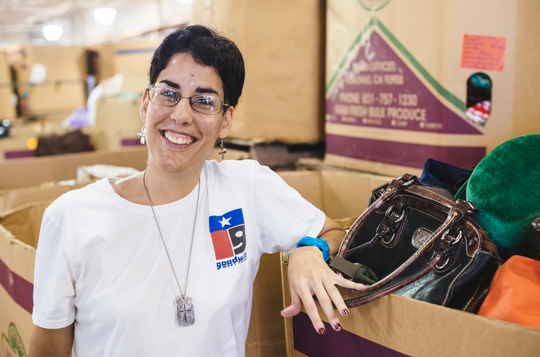 Tabatha said that working at Goodwill has helped her learn to communicate better with people in San Angelo.