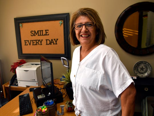 """Antonia """"Toni"""" Hill in her office at the Taylor County Juvenile Justice Center, where she is an Everyday Hero."""