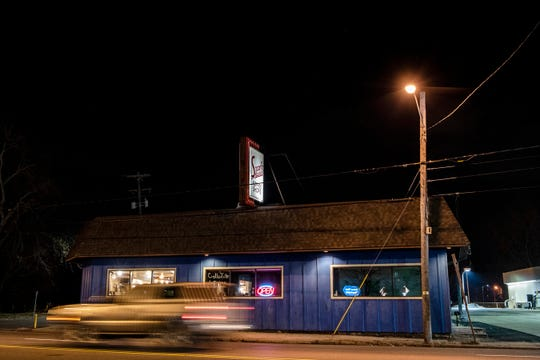 """Speed's Koffee Shop is pictured on Monday evening, Nov. 25, 2019 in Battle Creek, Mich. This year, Richard """"Speed"""" Eddinger, the namesake behind the restaurant, and his former wife and business partner, Barbara, passed away."""