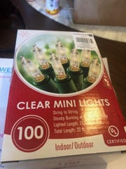 "Angela Beatty, of Haddonfield, received a note calling her Christmas lights ""lazy"" and providing a batch of white lights to get started for 2020, Dec. 24, 2019."