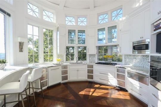 The house has a circular kitchen