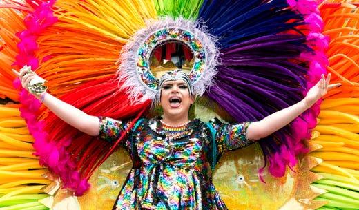 Tova Uravitch performs during the River City Pride Festival Saturday, June 22, 2019.