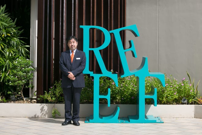 Yasuo Hoshino is the new president and general manager of the Guam Reef Hotel.