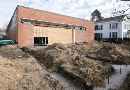 Construction in front of, as well as inside of the future Coratti's restaurant in downtown Howell, shown Thursday, Dec. 26, 2019, is underway.