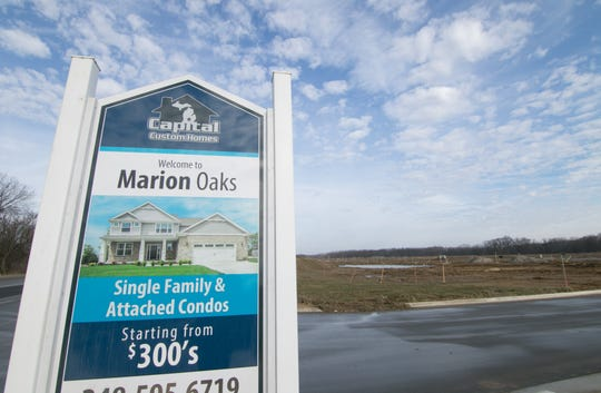 Land is prepped Thursday, Dec. 26, 2019 for the future Marion Oaks condominium subdivision off D-19 in Marion Township.