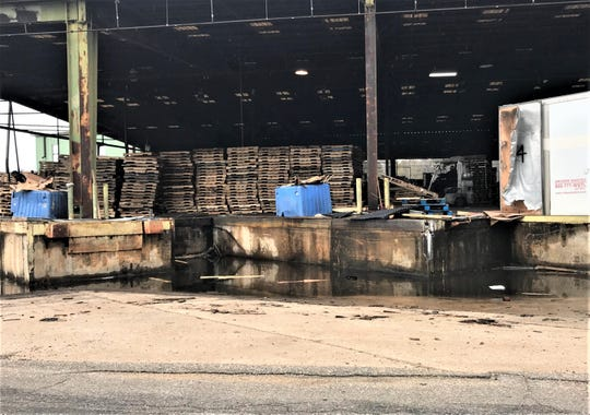 Pallets stacked at Southeast Pallet and Box company
