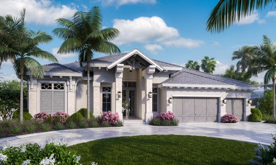 Rendering of Borelli Construction's newest model home located at 700 Old Trail Drive.