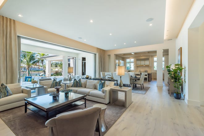 London Bay Homes' new coastal inspired home design choices at Mediterra feature beautifully designed outdoor living spaces that celebrate the indoor/outdoor lifestyle the community's residents prefer.