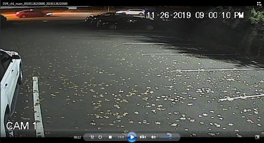 Surveillance footage in Ho-Ho-Kus captured a car leaving the scene of a hit-and-run on November 26.