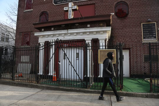 The location where a shooting took place in front of a church on Rutgers Avenue in Jersey City on December 26, 2019.