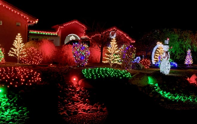 Don Osborne's house at 3921 Rancho De Animas Drive in Farmington won First Place in the Farmington Noonday Civitans' 56th annual Christmas lighting contest.