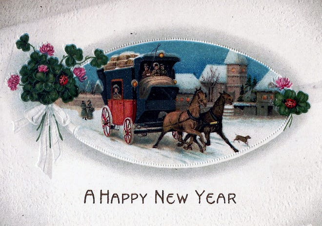 New Years Post Card from early 1900s.