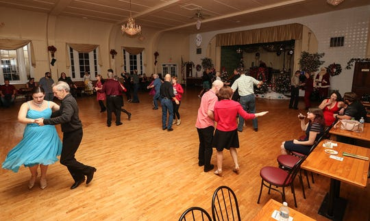 People from around Wisconsin gathered to dance on Dec. 20 at the Crystal Ballroom in St. John.
