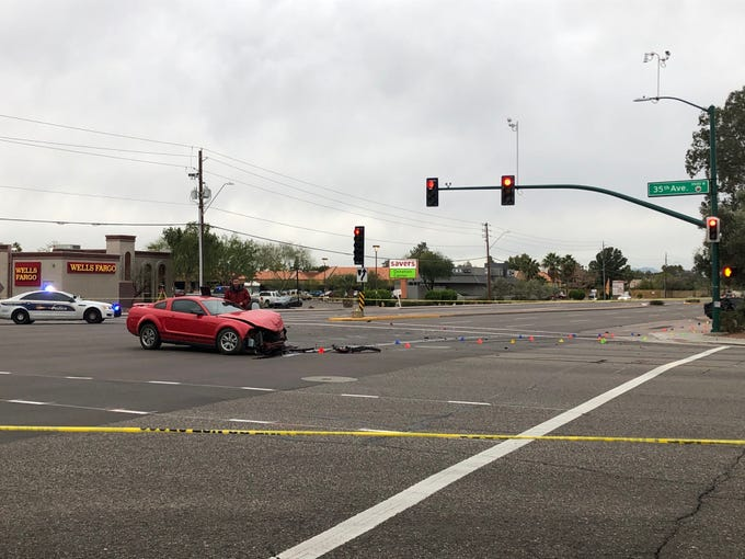 A vehicle involved in a crash hit several pedestrians, killing an 18-year-old man and an unborn child, on Dec. 26, 2019.