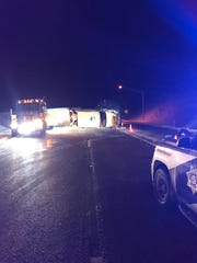 A semitruck crashed on Interstate 17 near Munds Park on Dec. 26, 2019.