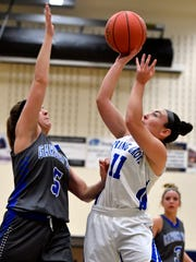 Haley Wagman, right, had 23 points on Friday in Spring Grove's win over Dallastown.