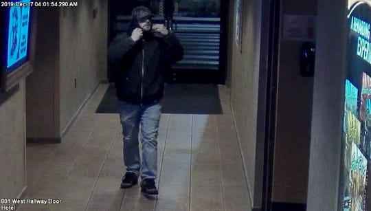 A photo taken from surveillance video showing a man with a goatee, whom investigators believe stole $2,000 from the Gold Dust West casino in Carson City on Dec. 17, 2019.