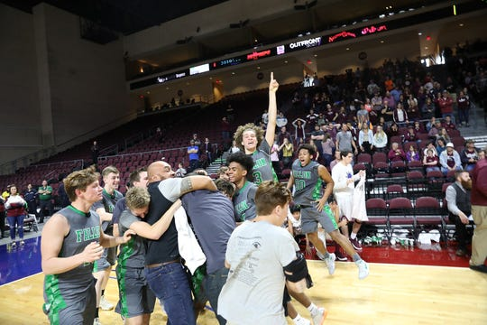Fallon won the boys state basketball 3A title.