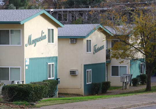 An apartment complex sits along Magnolia Street in Redding. The city's downtown between Eureka Way and Placer Street had a significant undercount in the 2010 Census, a Shasta County education official said.
