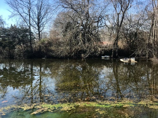 The owner of the pond says he has no immediately plans for the property other than to use it as a place to dump dirt. He says the pond is covered in silt and is no more than 18 inches deep.